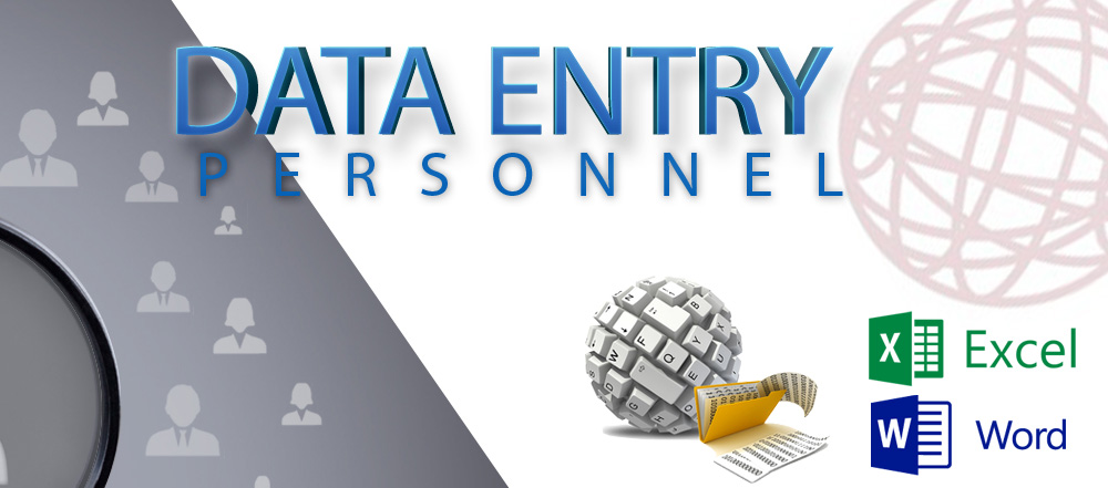 Job Opportunities: Data Entry Personnel