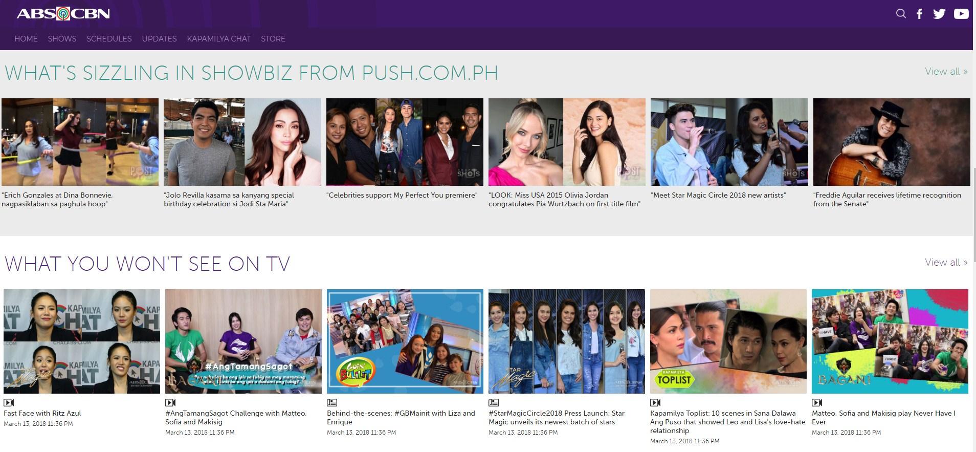 ABS CBN News & Entertainment Website