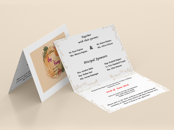Osomnimedia - Wedding Invitation Sample