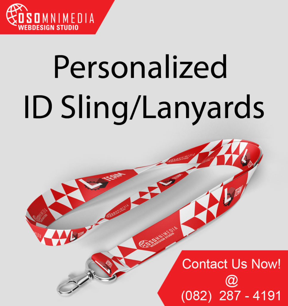 Customized Graphic Design for ID Sling or Lanyard in Davao City, Philippines