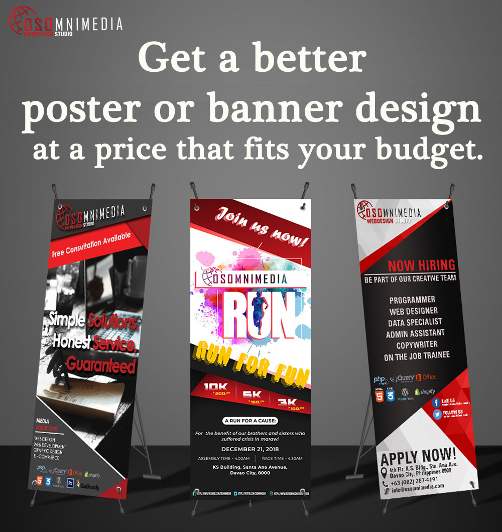 Professional Custom Poster Or Banner Design Service in Davao City, Philippines
