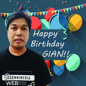 Happy Birthday Gian! – OSOmniMedia IT Product Specialist / Member of the Core Team