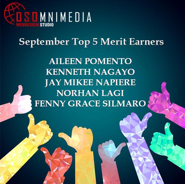 OSOMniMedia Top 5 Merit Earnes