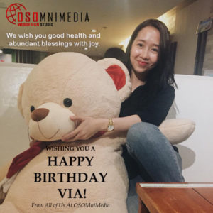 Happy Birthday Via from OSOMniMedia Team