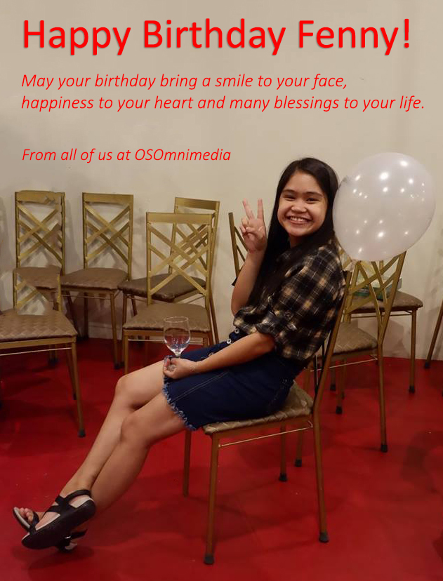 Happy Birthday Fenny from all of us at OSOmnimedia