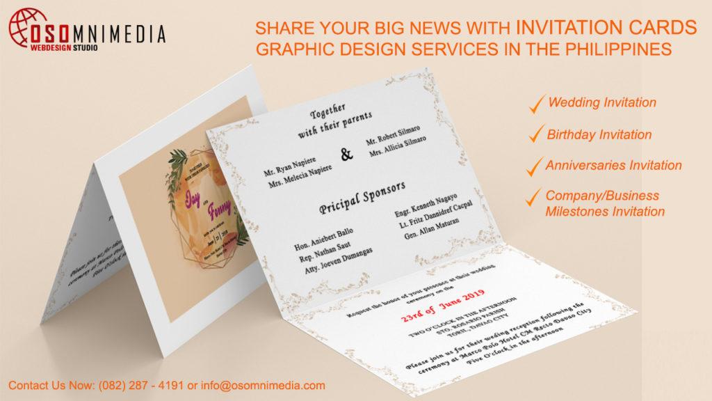 Invitation Card Graphic Design Services From Osomnimedia
