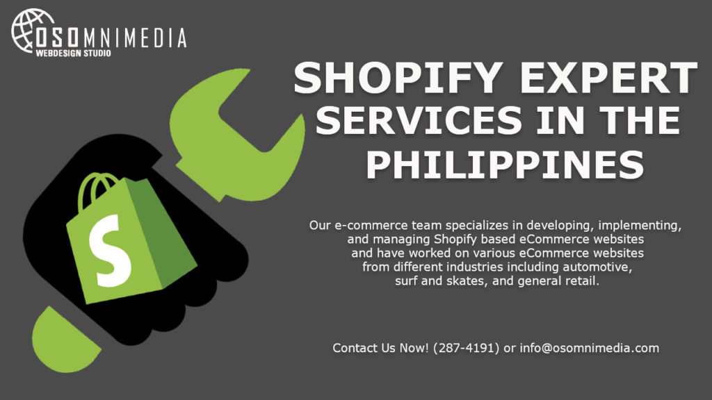 OSOmnimedia Shopify Experts Agency in the Davao City, Philippines