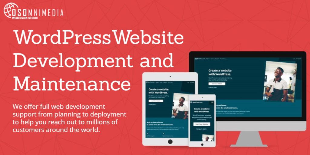 WordPress Website Development and Maintenance Services from OSOmnimedia Web Davao Philippines