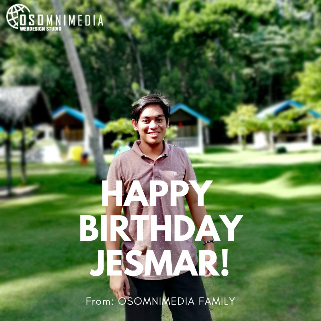 Warm Birthday Greetings to Jesmar from our E-Commerce Brand Analyst Team!