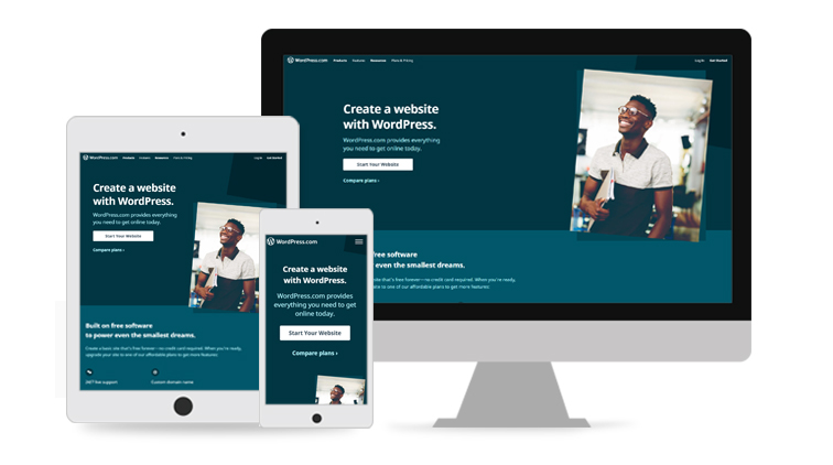 WordPress is a Media support and mobile friendly.