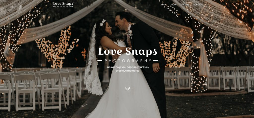 Love Snaps Wedding Photography Website