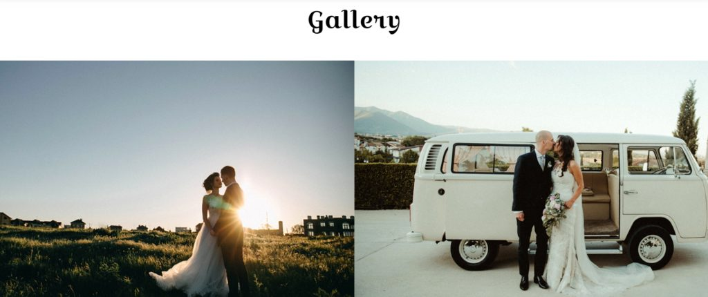Love Snaps Wedding Photography Website Image Gallery section