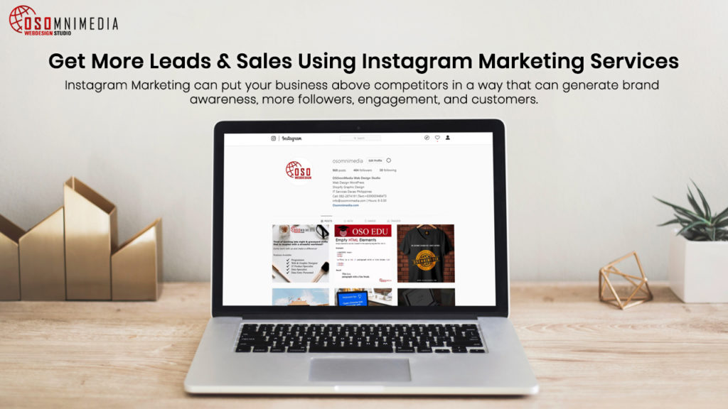 Get More Leads & Sales Using Instagram Marketing Services from OSOmnimedia Web Solutions in the Philippines